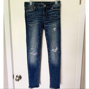 White House Black Market Distressed Skinny Jean